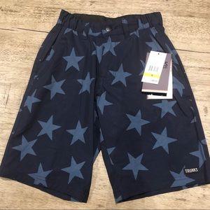 NWT Trunks Boys Navy Multifunctional Star Shorts